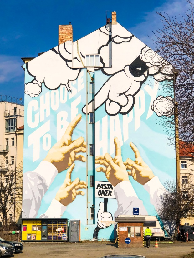 Prague Czech Republic Building Graffiti